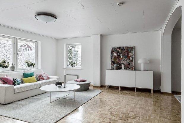Фотография: Гостиная в стиле Современный, Кухня и столовая, Декор интерьера, Дом, Швеция, Стокгольм, как создать уютную атмосферу, 4 и больше, Более 90 метров, гостеприимный интерьер – фото на INMYROOM