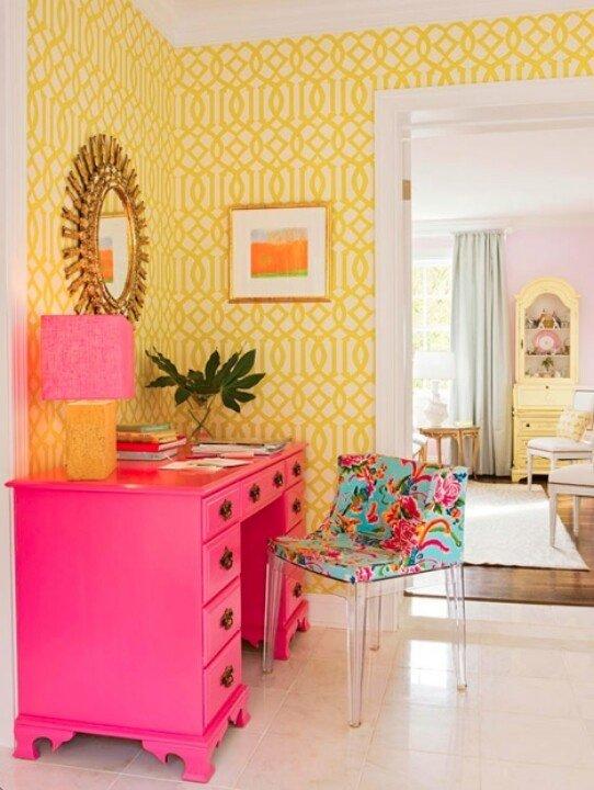 Фотография: Мебель и свет в стиле Эклектика, Декор интерьера, Дизайн интерьера, Цвет в интерьере, Желтый – фото на INMYROOM