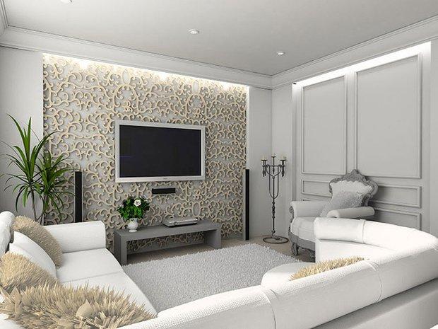 Фотография: Гостиная в стиле Классический, Современный, Декор интерьера, Декор дома, Зеркало – фото на INMYROOM