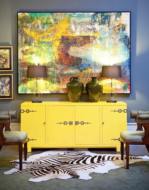 Фотография: Мебель и свет в стиле Современный, Декор интерьера, Декор, абстрактная живописть в интерьере, абстрактное искусство в интерьере – фото на INMYROOM