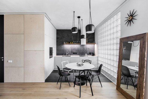 Фотография: Кухня и столовая в стиле Современный, Квартира, Проект недели, Москва, новостройка, Монолитный дом, Megabudka, 2 комнаты, 60-90 метров – фото на INMYROOM