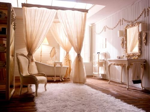 Фотография: Ванная в стиле Классический, Декор интерьера, Текстиль, Советы, Шторы, Балдахин – фото на INMYROOM