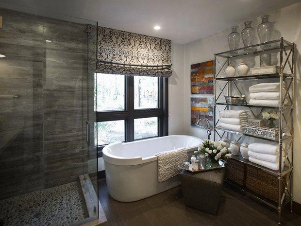 Фотография: Ванная в стиле Современный, Эклектика, Дом, Дома и квартиры, Проект недели, Дача – фото на INMYROOM