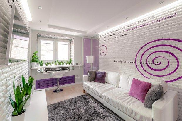 Фотография: Гостиная в стиле Современный, Малогабаритная квартира, Квартира, Дома и квартиры, Минимализм – фото на INMYROOM