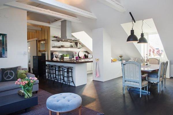 Фотография: Кухня и столовая в стиле Прованс и Кантри, Скандинавский, Квартира, Дом, Ремонт на практике – фото на INMYROOM