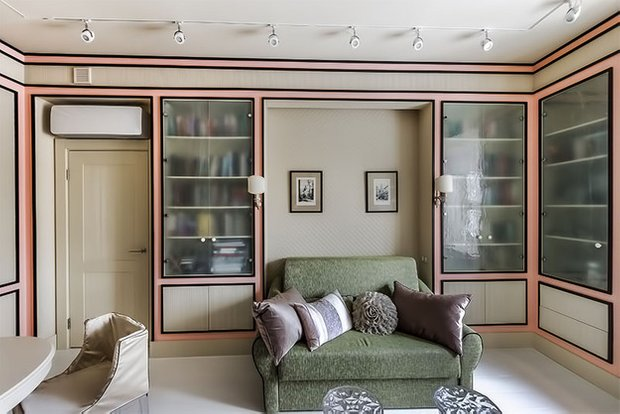 Фотография: Гостиная в стиле Прованс и Кантри, Кабинет, Интерьер комнат – фото на InMyRoom.ru