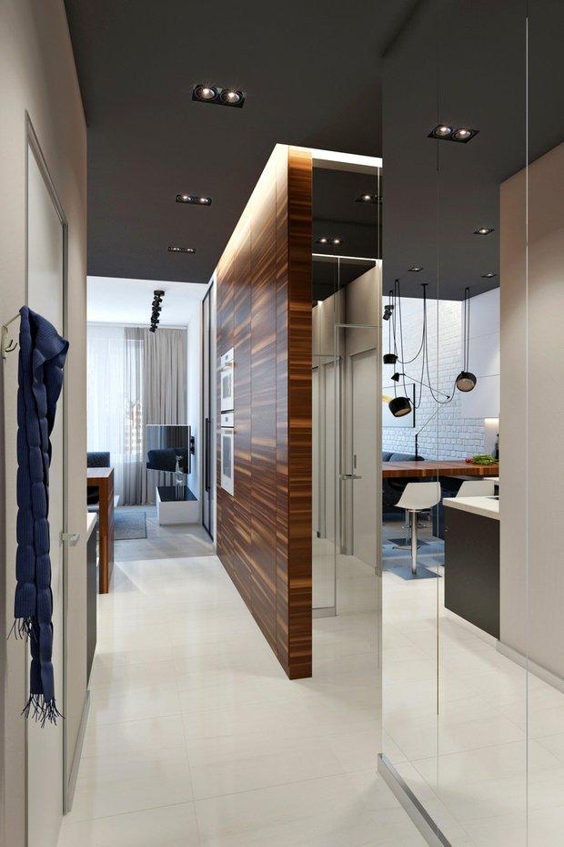 Фотография: Прихожая в стиле Современный, Советы, Стеновые панели, хранение вещей, хранение вещей в маленькой квартире, однокомнатная квартира, однушка, 1 комната, Kronospan – фото на INMYROOM