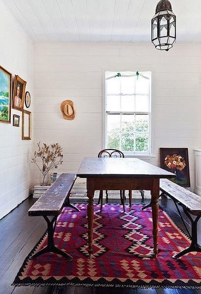 Фотография: Кухня и столовая в стиле Скандинавский, Декор интерьера, Мебель и свет, Цвет в интерьере, Ковер – фото на INMYROOM