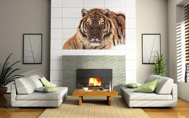 Фотография: Гостиная в стиле Современный, Декор интерьера, Декор дома, Плитка, Ремонт на практике – фото на INMYROOM