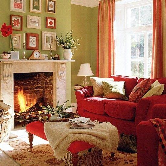 Фотография: Гостиная в стиле Прованс и Кантри, Интерьер комнат, Мебель и свет, Диван, Потолок – фото на INMYROOM