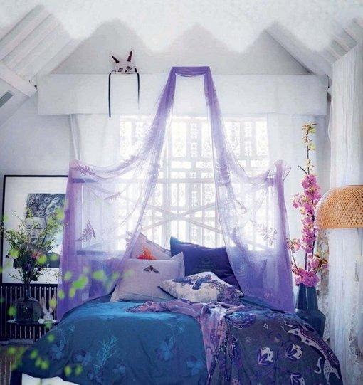 Фотография: Спальня в стиле Прованс и Кантри, Скандинавский, Интерьер комнат, Кровать, Гардероб, Комод, Пуф, Табурет – фото на INMYROOM