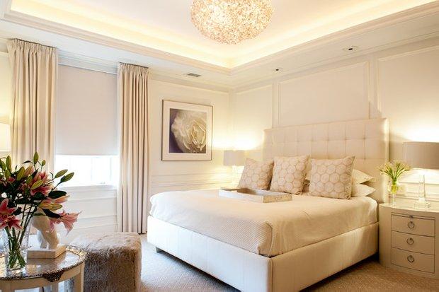Фотография: Спальня в стиле Современный, Квартира, Дома и квартиры, Пентхаус, Картины – фото на INMYROOM