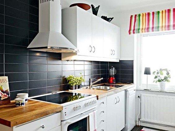 Фотография: Кухня и столовая в стиле Скандинавский, Малогабаритная квартира, Квартира, Швеция, Дома и квартиры – фото на INMYROOM