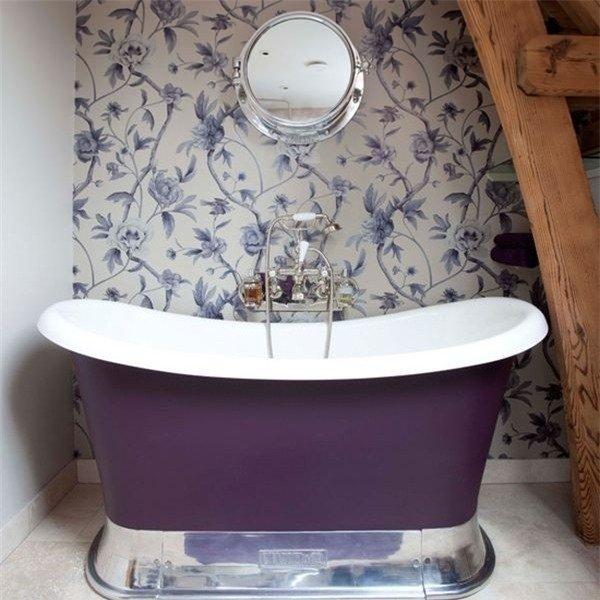 Фотография: Ванная в стиле Эклектика, Интерьер комнат, Декоративная штукатурка – фото на INMYROOM