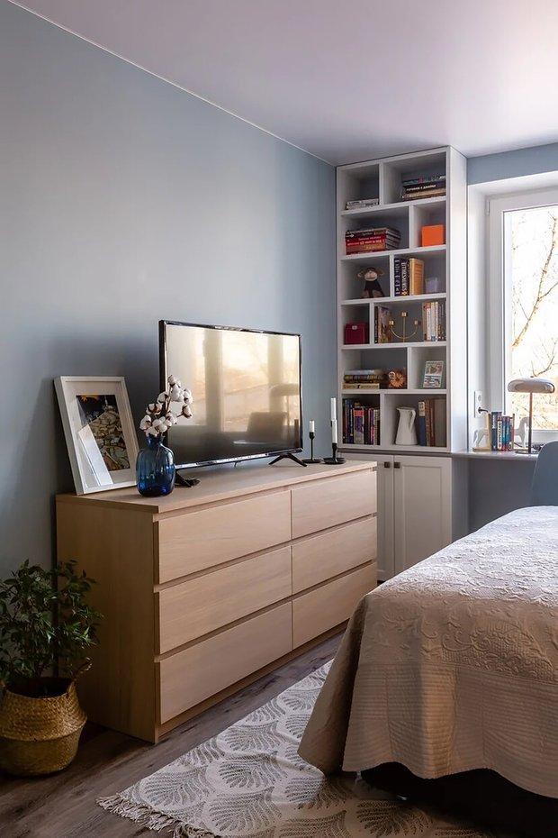 Фотография: Спальня в стиле Современный, Малогабаритная квартира, Квартира, Советы, Проект недели, Buro Brainstorm, 1 комната, до 40 метров – фото на INMYROOM