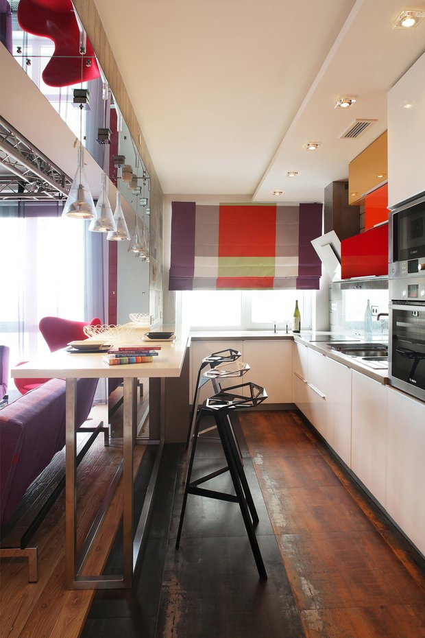 Фотография: Кухня и столовая в стиле Лофт, Современный, Эклектика, Квартира, Проект недели – фото на INMYROOM