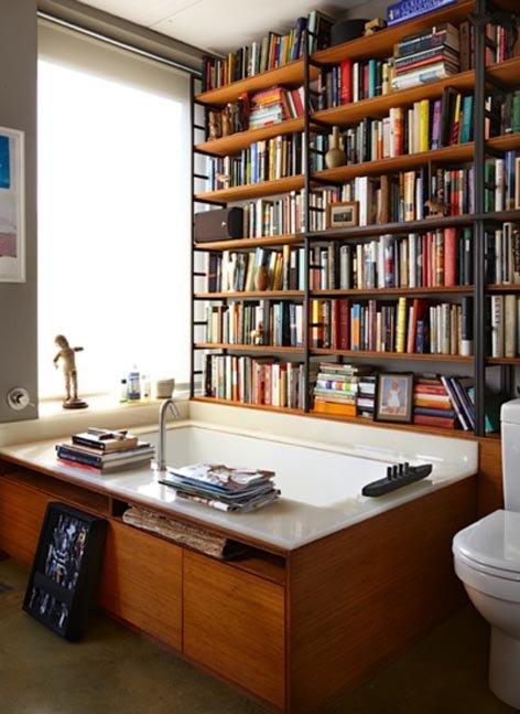 Фотография: Ванная в стиле Современный, Системы хранения, Библиотека, Домашняя библиотека – фото на INMYROOM