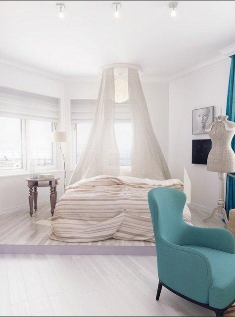Фотография: Спальня в стиле Современный, Малогабаритная квартира, Квартира, Индустрия, События – фото на INMYROOM