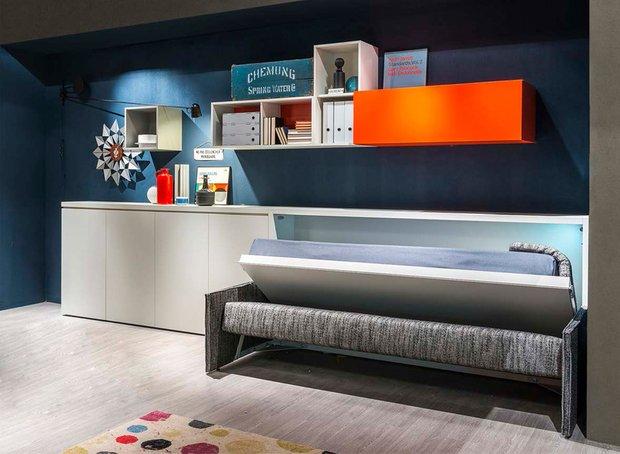 Фотография: Кабинет в стиле Лофт, Современный, Советы, Бежевый, Серый, Мебель-трансформер, кровать-трансформер, диван-кровать – фото на INMYROOM