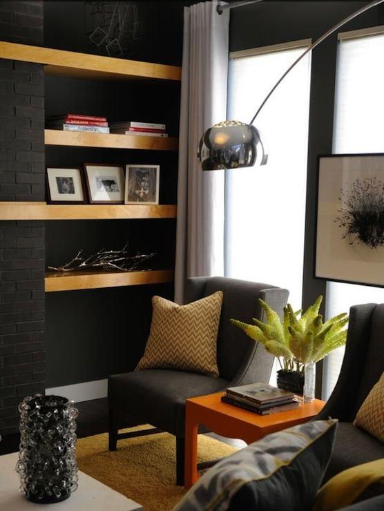 Фотография: Гостиная в стиле Современный, Освещение, Декор, Советы, Ремонт на практике – фото на INMYROOM