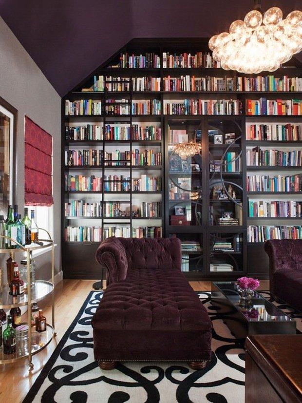 Фотография:  в стиле Классический, Современный, Эклектика, Системы хранения, Библиотека, Домашняя библиотека – фото на INMYROOM