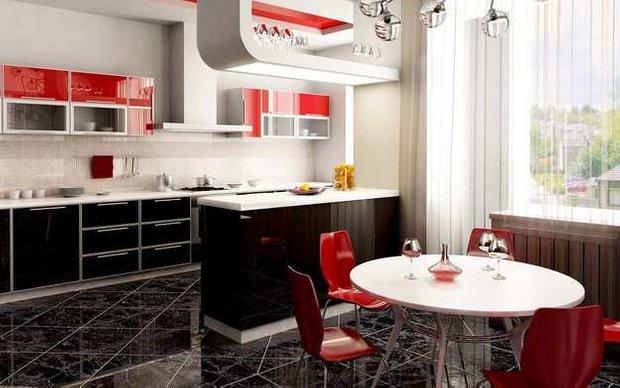 Фотография: Кухня и столовая в стиле Современный, Хай-тек, Интерьер комнат, Встраиваемая техника – фото на INMYROOM