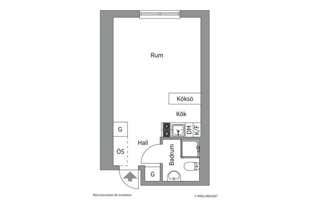 Фотография:  в стиле , Эклектика, Декор интерьера, Малогабаритная квартира, Квартира, Студия, Швеция, Стокгольм, Серый, до 40 метров – фото на INMYROOM