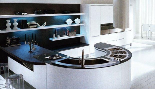 Фотография: Кухня и столовая в стиле Хай-тек, Интерьер комнат, Бытовая техника – фото на INMYROOM
