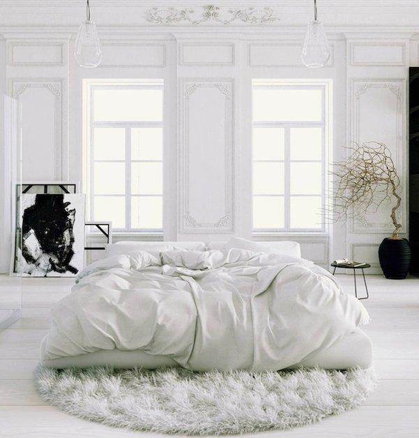 Фотография: Спальня в стиле Прованс и Кантри, Скандинавский, Интерьер комнат, Цвет в интерьере, Советы – фото на INMYROOM