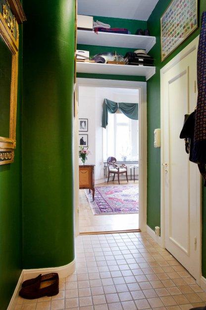 Фотография: Прихожая в стиле Скандинавский, Эклектика, Гостиная, Классический, Малогабаритная квартира, Квартира, Дома и квартиры, Стокгольм – фото на INMYROOM