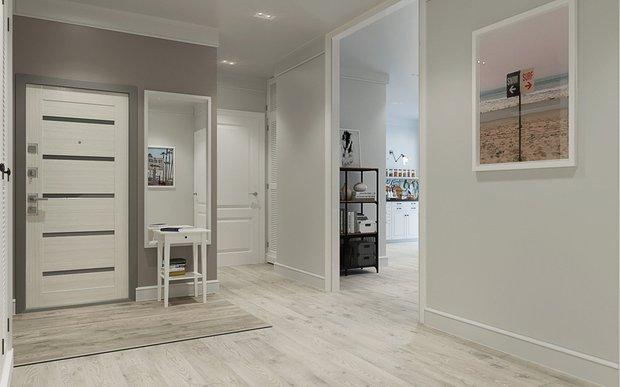 Фотография: Прихожая в стиле Современный, Ремонт на практике, ламинат, ламинат на полу, ламинат на стене – фото на INMYROOM