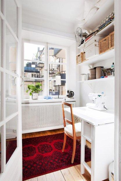 Фотография: Офис в стиле Скандинавский, Малогабаритная квартира, Квартира, Дома и квартиры, Стокгольм – фото на INMYROOM