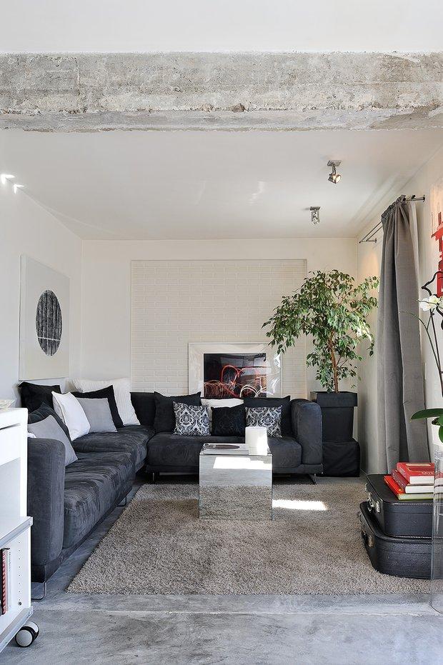 Фотография: Гостиная в стиле Современный, Декор интерьера, Квартира, Цвет в интерьере, Дома и квартиры, Стены, Мадрид – фото на INMYROOM