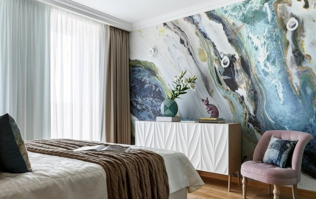 Фотография: Спальня в стиле Современный, Советы, Стены, Декоративная штукатурка, Dali decor, Dali-Decor – фото на INMYROOM