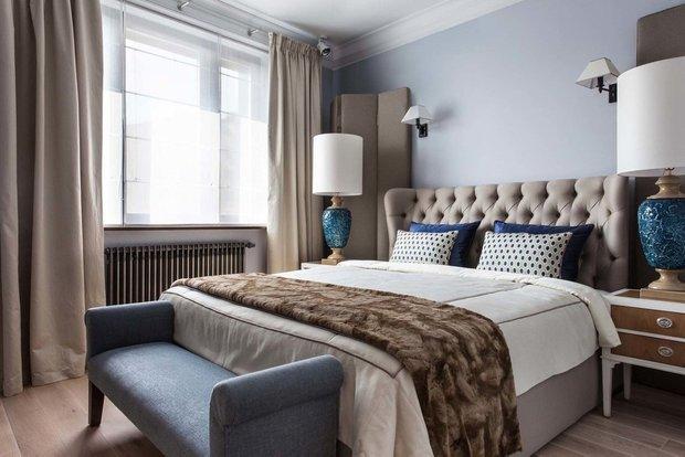 Фотография: Спальня в стиле Классический, Современный, Квартира, Проект недели, Москва, новостройка, Дарья Широкова, Инга Аршба – фото на INMYROOM