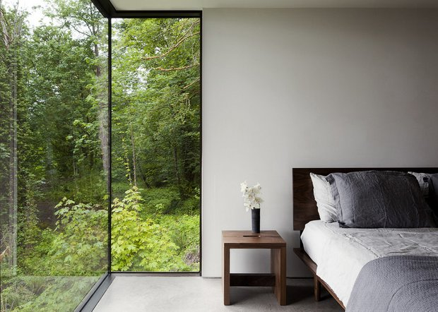 Фотография: Спальня в стиле Современный, Эко, Дом, Архитектура, Ландшафт, Минимализм – фото на INMYROOM