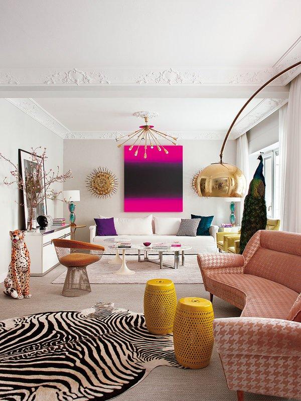 Фотография: Гостиная в стиле Эклектика, Классический, Современный, Квартира, Дома и квартиры – фото на INMYROOM
