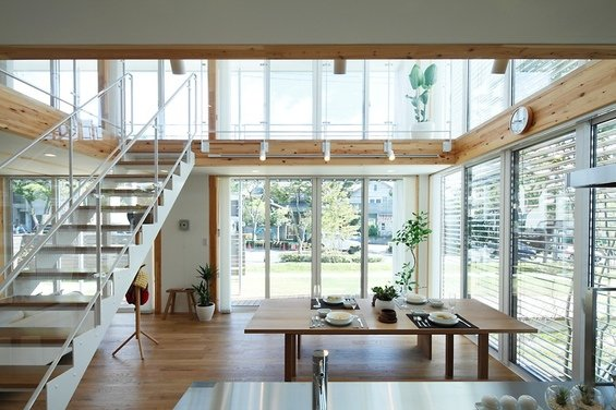 Фотография: Кухня и столовая в стиле Лофт, Минимализм, Дом, Дома и квартиры, Япония – фото на INMYROOM