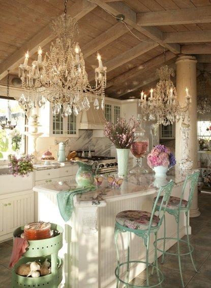 Фотография: Кухня и столовая в стиле Прованс и Кантри, Дом, Интерьер комнат – фото на INMYROOM