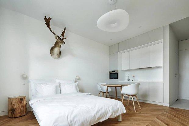Фотография: Спальня в стиле Минимализм, Эко, Кухня и столовая, Гид – фото на INMYROOM
