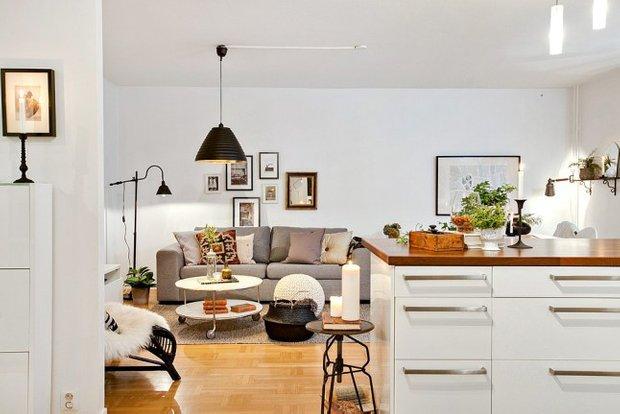 Фотография: Гостиная в стиле Скандинавский, Декор интерьера, Квартира, Аксессуары, Декор, Белый – фото на INMYROOM