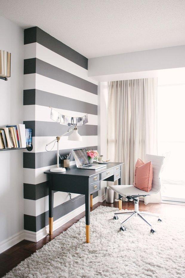 Фотография: Офис в стиле Скандинавский, Современный, Декор интерьера, Дизайн интерьера, Цвет в интерьере, Белый, Синий, Серый – фото на INMYROOM