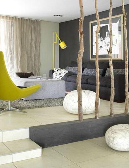 Фотография: Гостиная в стиле Современный, Эко, Декор интерьера, Декор дома, Ширма, Перегородки – фото на INMYROOM