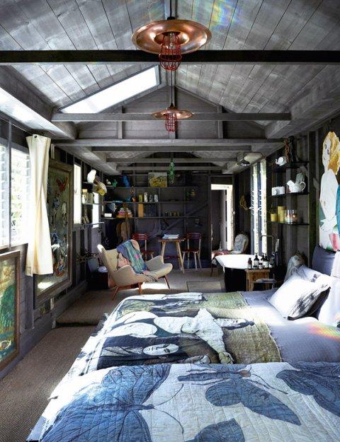 Фотография: Спальня в стиле Лофт, Дома и квартиры, Интерьеры звезд – фото на INMYROOM