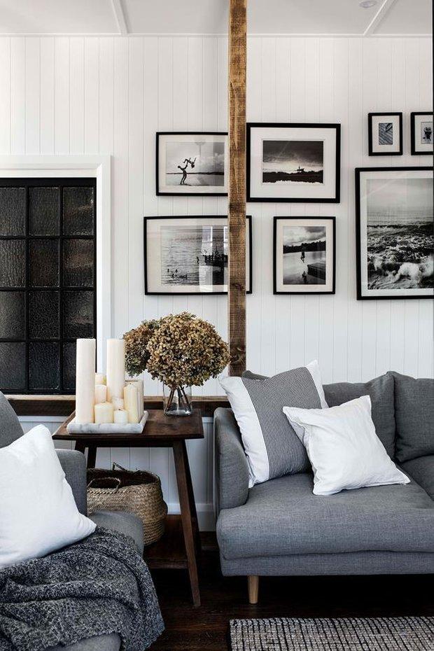 Фотография: Гостиная в стиле Скандинавский, Декор интерьера, Дом, Австралия, Белый, Черный, как обустроить дом – фото на INMYROOM