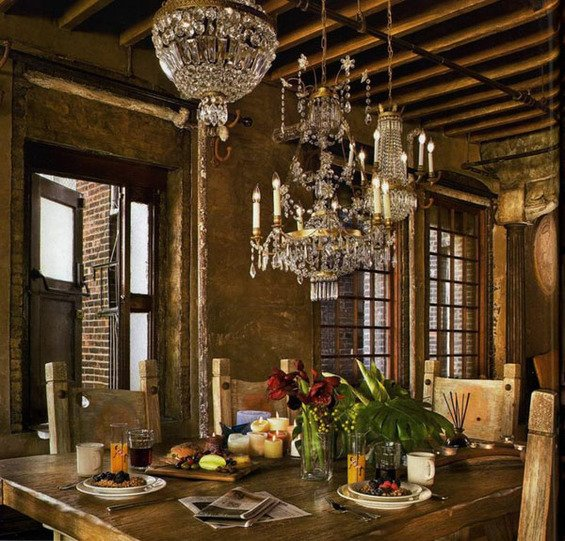 Фотография: Кухня и столовая в стиле Прованс и Кантри, Стены, Шебби-шик, Барокко – фото на InMyRoom.ru