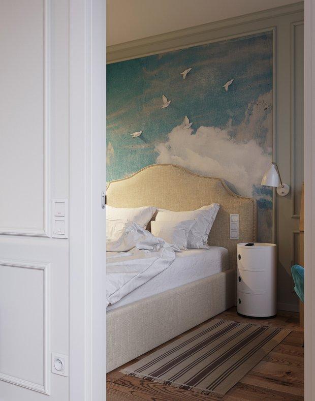 Фотография: Спальня в стиле Современный, Малогабаритная квартира, Квартира, Проект недели, Москва, Кирпичный дом, 2 комнаты, 40-60 метров, I-511 – фото на INMYROOM