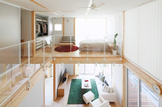 Фотография: Гостиная в стиле Лофт, Дом, Дома и квартиры, Япония – фото на INMYROOM