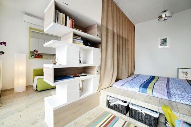 Фотография: Спальня в стиле Скандинавский, Декор интерьера, Малогабаритная квартира, Квартира, Дом, Планировки – фото на INMYROOM