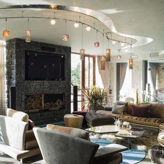 Фотография: Гостиная в стиле Лофт, Современный, Декор интерьера, Дизайн интерьера, Марат Ка, Декоративная штукатурка, Альтокка – фото на INMYROOM